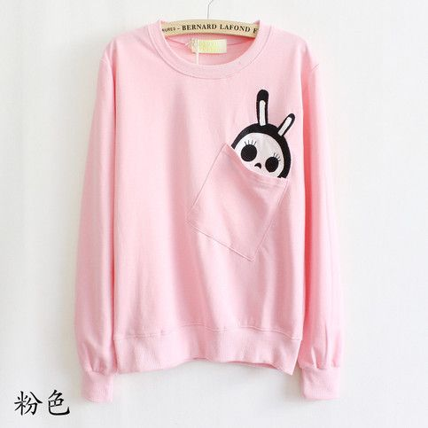 Pullover Sweater with Cute Pocket from Whitelily Fashion: