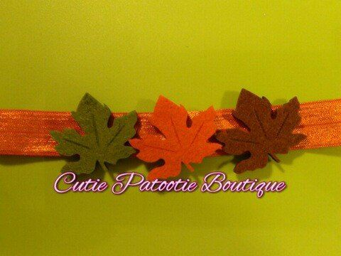 Fall Head Band by CuTiEpAtOoTieBsHoP on Etsy, $2.50