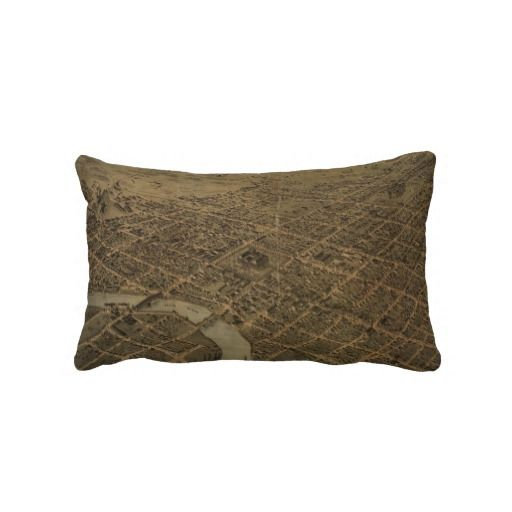 Vintage Pictorial Map of Columbus Ohio (1872) Pillows from Zazzle.com $52.00