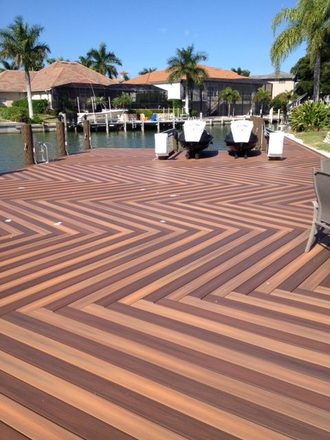 Herringbone Deck Pattern From Fiberon
