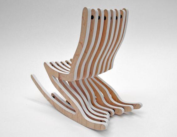Silla mecedora skeleton rocker 4 silla pinterest sillas mecedoras muebles y google - Mecedora diseno ...