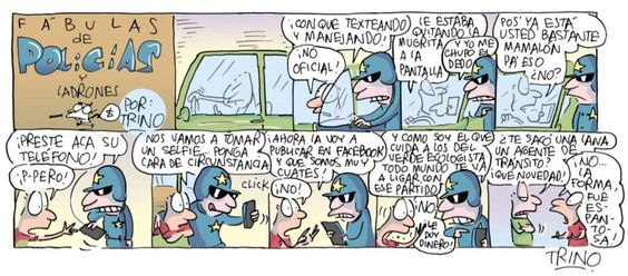 """""""@MemeticoMeme: """"Selfies peligrosas"""" de la serie #FabulasdePolcíasyLadrones por @trinomonero """" @ManceraMiguelMX"""