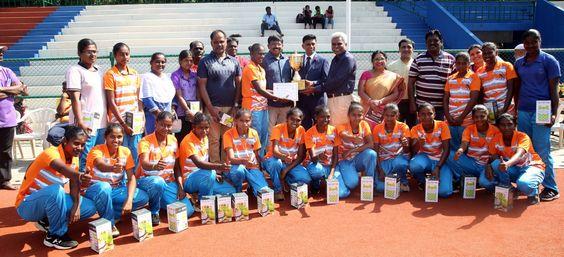 8th Senior women Inter- district Hockey Championship won by Erode Team