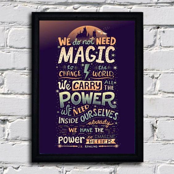 Poster com moldura Harry Potter - Magic