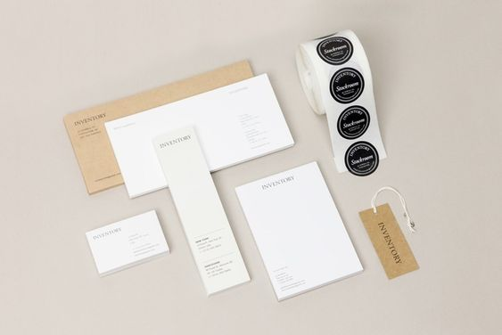Inventory Stationery -- Cool clean design.  Good use of colors and an almost paper bag like design.