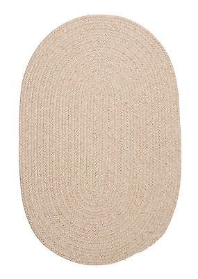 BRISTOL NATURAL BRAIDED RUG By COLONIAL MILLS. MANY SIZES! COUNTRY BRAIDED RUG