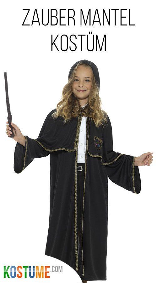 Zauber Mantel schwarz