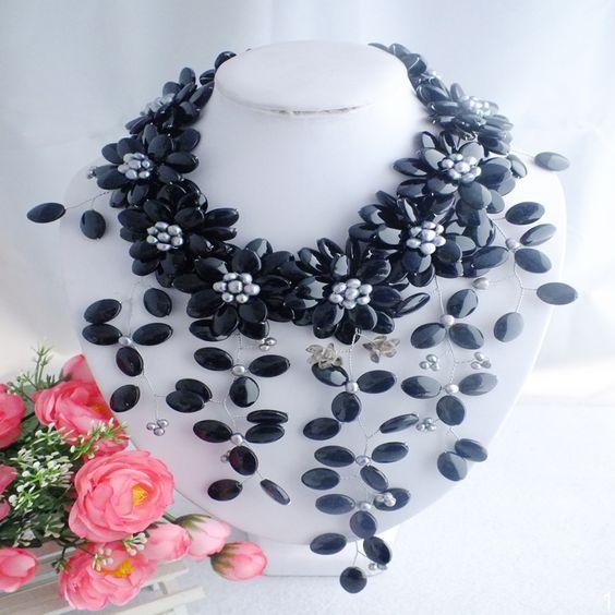 Trova altre Collane del Choker Informazioni circa Incredibile!!!!!  W 4926 fashion nigeriano di nozze beads africani agata collana di gioielli in perline, Alta Qualità Collane del Choker da Changzhou Day Colour Jewelry Co., Ltd. su Aliexpress.com