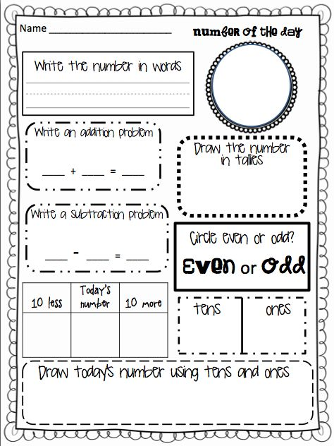 # of the Day! Great ice breaker for math. For my Grade 2s ...