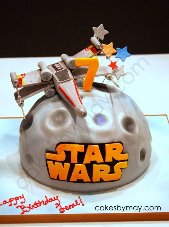 Star Wars X Wing Fighter Birthday Cake Childrens Cakes