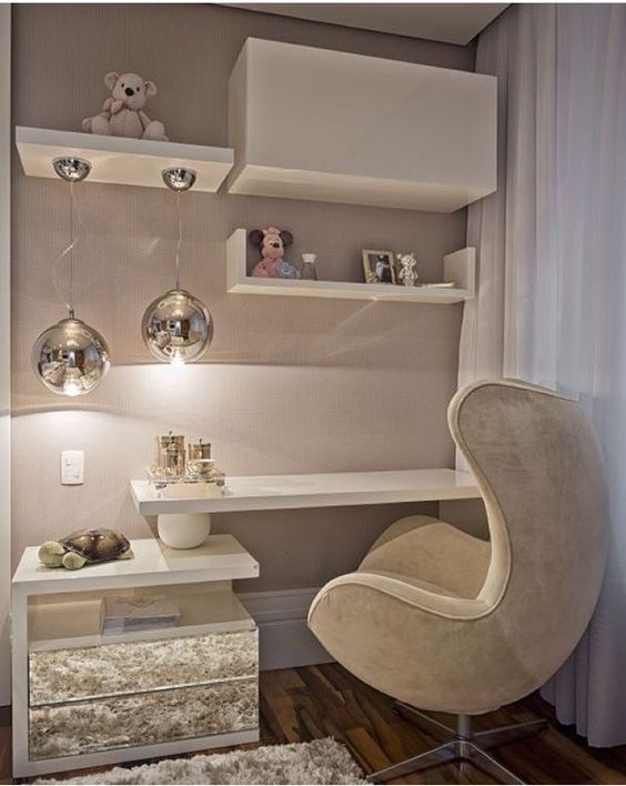 Ultra Modern Dressing Table Designs With Upholstered Chair For Small Bedrooms The Dressing Table Is An Interior Subject Which Home Home Decor Bedroom Design