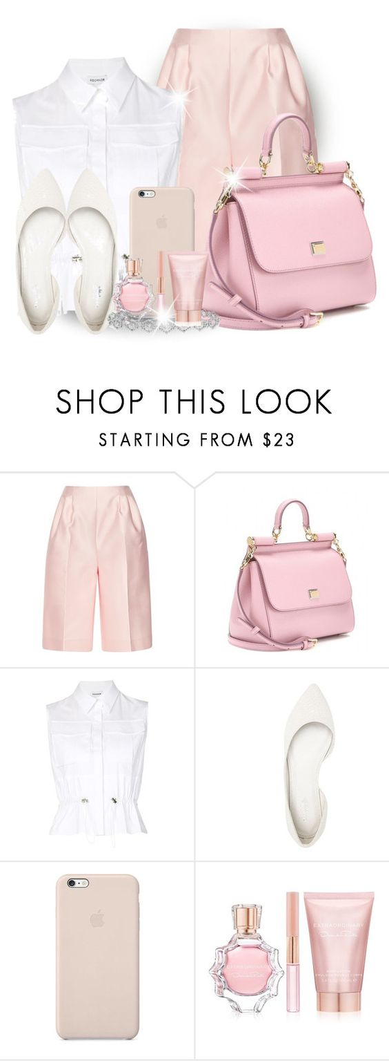 """Pink Lover"" by jessinerio4l ❤ liked on Polyvore featuring Emilia Wickstead, Dolce&Gabbana, koonhor, Charlotte Russe, Epoque, Black Apple and Oscar de la Renta"