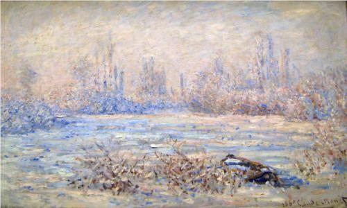 Frost near Vetheuil - Claude Monet