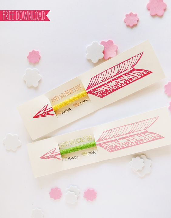 Valentine pencil printable by Muffin (p.s. she is adorable in person) via howaboutorange