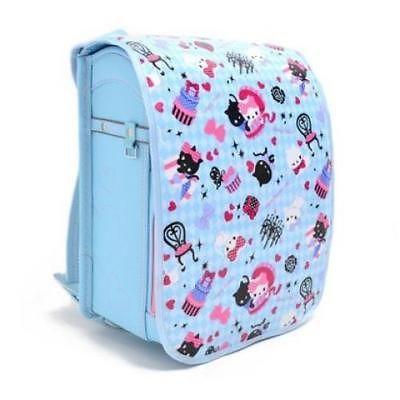 Japanese Backpack Randoseru Cover NEWLight Blue Argyle & Priness Kitty Mo165