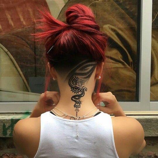Mehndi Nape Tattoo : Undercut ink tattoo