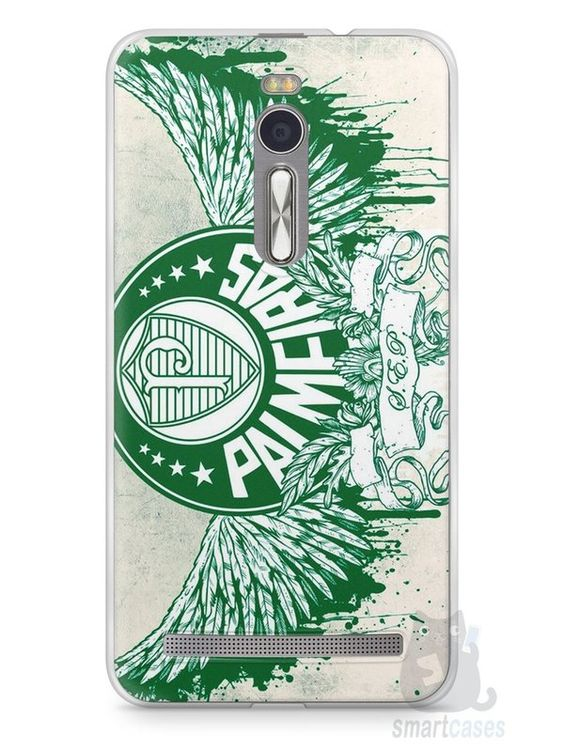 Capa Zenfone 2 Time Palmeiras #3 - SmartCases - Acessórios para celulares e tablets :)