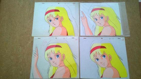 Verkaufe gleich 4 seltene Cels zu dem Anime Saber Rider and The StarsherrifsMotiv:April-(Szene mit 4 Cels)Grösse Cel ca. 23x27 CMDie Cels haben hinter noch die Bleistiftskizzen dran,sie sind fest an den Cels,man kann sie mit etwas mühe lösen aber meisst gehen dadurch die Papierskizzen kaputt.Dafür kann man dann die Cels auf andere schöne Hintergründe legen da sie ja Durchsichtig sind!!!Die Cels haben die nummerierungen A2,A14,A15