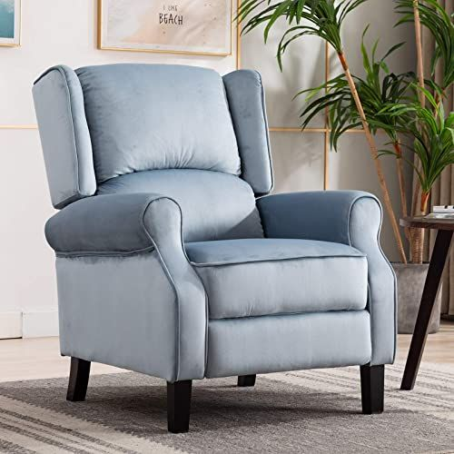 Best Seller Artechworks Velvet Comfortable Pushback Recliner Chair Bedroom Living Room Single Reclining Sofa Footrest Home Theater Seating Arm Chair H In 2020 Reclining Sofa Home Theater Seating Sofa Home