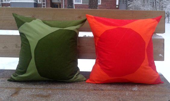 Pillow cover made from Marimekko fabric, pillow case sham, throw pillow cover, modern Scandinavian cushion, accent pillow