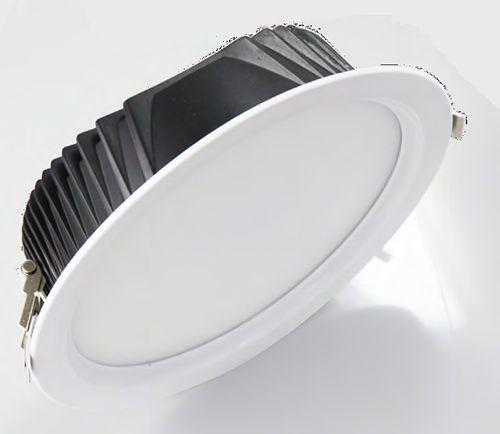 PLE22W :: PLAFONNIER LED ENCASTRABLE ROND 22W BLANC CHAUD DE180