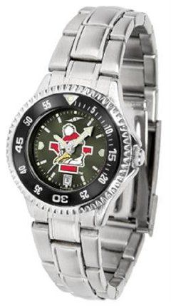 Youngstown State Penguins YSU NCAA Womens Steel Anochrome Watch by SunTime. $86.95. Showcase the hottest design in watches today! The functional rotating bezel is color-coordinated to compliment your favorite team logo. The Competitor Steel utilizes an attractive and secure stainless steel band.The AnoChrome dial option increases the visual impact of any watch with a stunning radial reflection similar to that of the underside of a CD. Perceived value is increased with t...