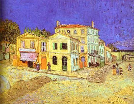 Vincent Van Gogh >> Vincent's House in Arles (The Yellow House)