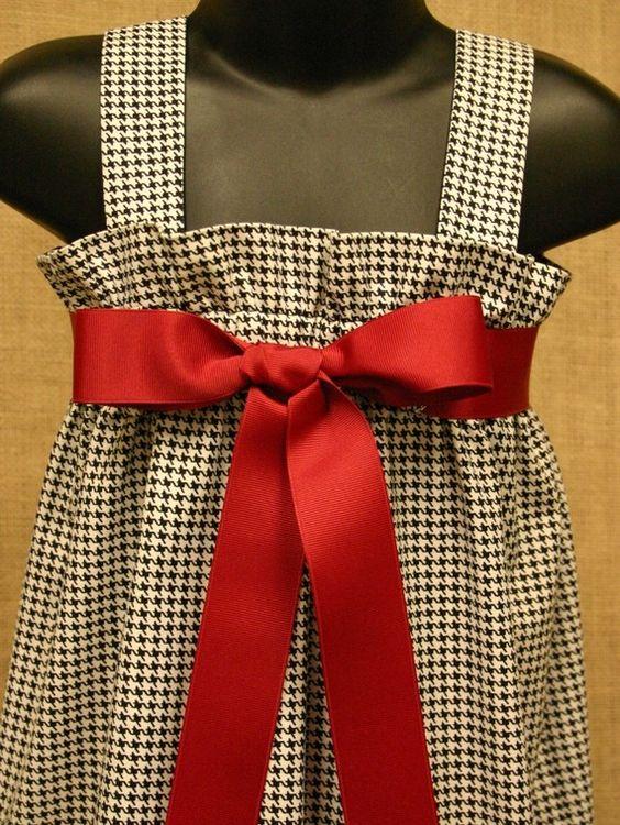 Black and White Houndstooth Zadee Dress  by abushelandapeckbiz, $28.00