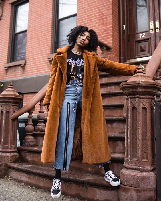 """149 Likes, 8 Comments - Asha (@the.magical.hour) on Instagram: """"@urbanoutfitters #urban #fauxfur #jeans #ragged #vans #prince #outfitters #uo #uoonyou #melanin…"""""""