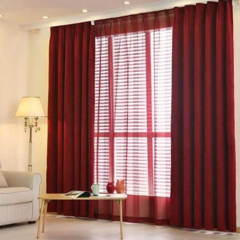 Chenille Red Crimson Maroon Curtains Blackout Bedroom Maroon Curtains Curtains Living Room Curtains