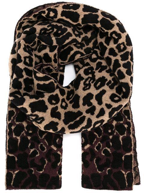 Lanvin Schal mit Leopardenmuster