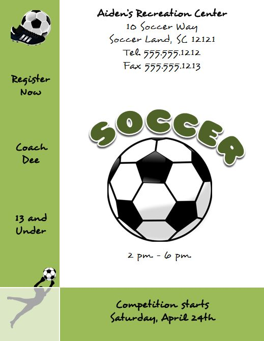 Flyer Templates For Word Free Microsoft Word Soccer Flyer Template  Httpwww.flyertutor .
