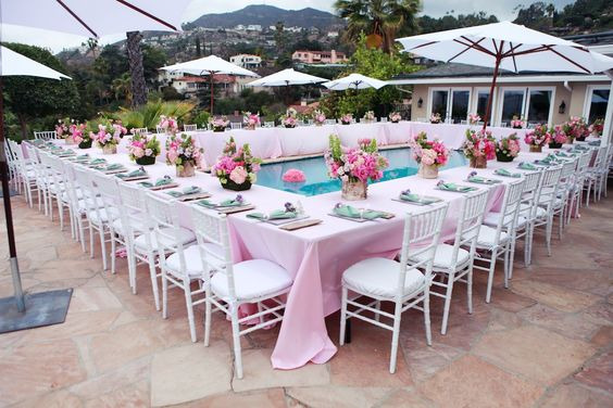 Beautiful baby shower surrounding the pool! Love htis idea and set-up. Awaiting Baby Minka- A Beautiful Baby Shower by Melody Melikian Photography