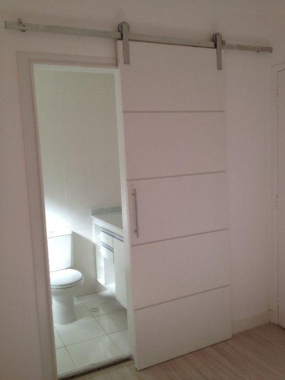 porta de correr  Idéias  Pinterest  Portas de banheiro, Portas e Portas de -> Armario De Banheiro Vinho