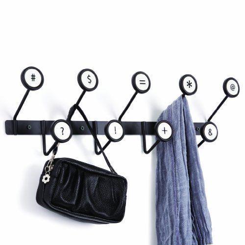 Umbra Coat Hook Multiple Coat Hooks Hanger Large - Scribe Black White