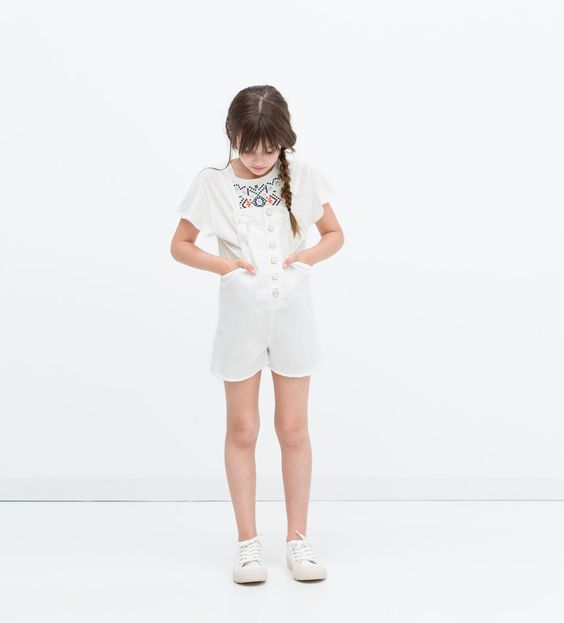 ZARA - SALE - Buttoned short dungarees