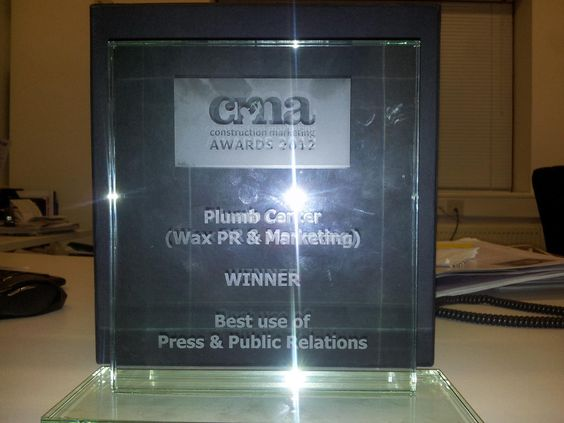 Very proud of our CMA award for best use of Press and Public relations. Have to thank Plumb Center, Ebbsfleet United FC and everyone involved with the 'Best Loo-sers' campaign.