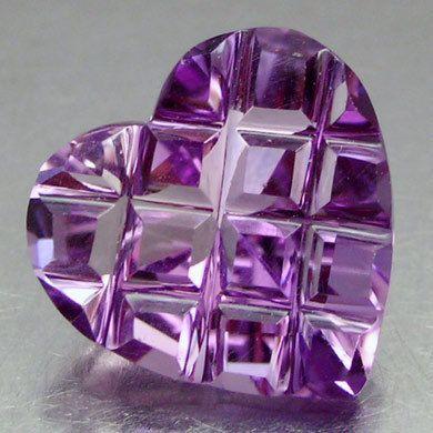 Fancy Charming Hart Natural Purple Amethyst 3 Ct | eBay