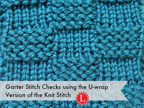 Loom Knit Garter Stitch Checks Basketweave weaving Pinterest Loom, Loom...