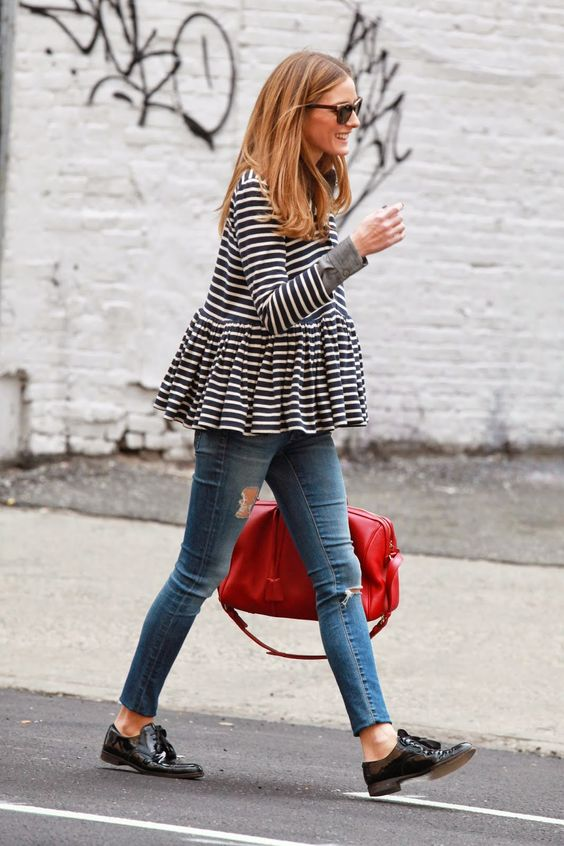 The Olivia Palermo Lookbook : Olivia Palermo out in New York City #oxford #shoes…