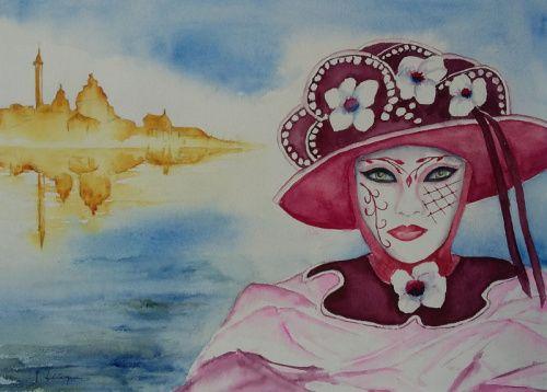 311 Personnage Du Carnaval De Venise 40 50 Personnage