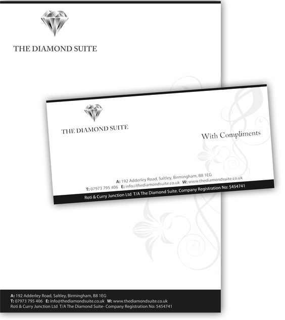 Diamond Suite Letter head and compliment slip design Corporate - compliment slip template