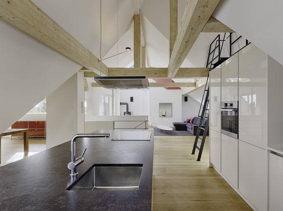 10 Dachausbau Ideen Schräg ist schön! Moderne küche - k amp uuml che im landhausstil