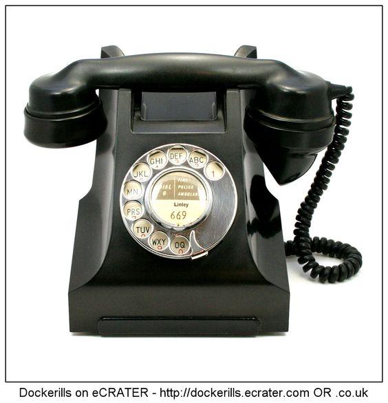 Bakelite Telephone. 1930's.