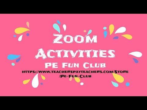 Https Www Teacherspayteachers Com Product Pe Zoom Activities Moving Active Great For Classroom Teachers 559 In 2020 Pe Activities Pe Ideas Digital Learning Classroom