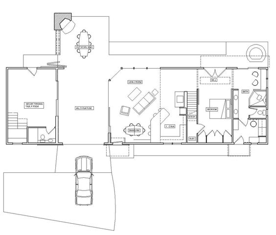 This dog trot floor plan is really close to the ideal for Dogtrot house floor plan