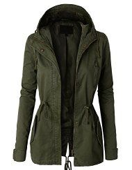 LE3NO Womens Military Anorak Safari Jacket Vest