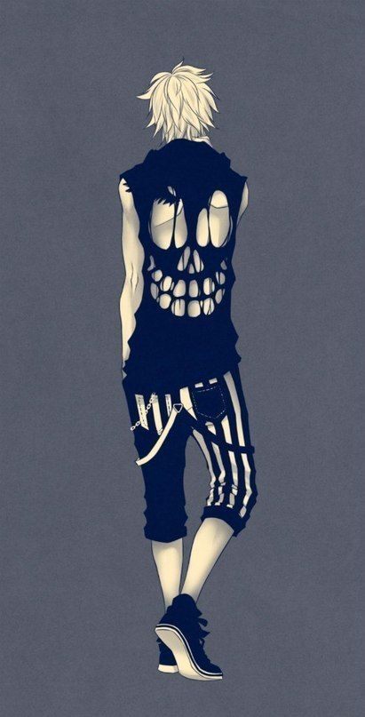 Manga. Anime. Skull. Fashion.:
