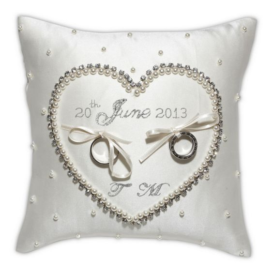 initials wedding and wedding ring cushion on pinterest