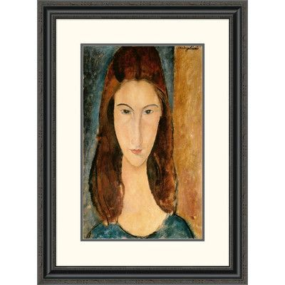 Global Gallery 'Jeanne Hebuterne, 1919' by Amedeo Modigliani Framed Painting Print Size: